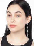 Aura Silver Circular Drop Earrings