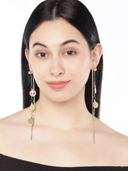 Roman Coin Long Earrings