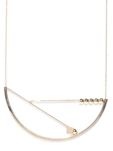 London- Geometric 18k Gold Plated Necklace
