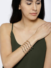 London- Warrior Princess 18k Gold Cuff - ChicMela
