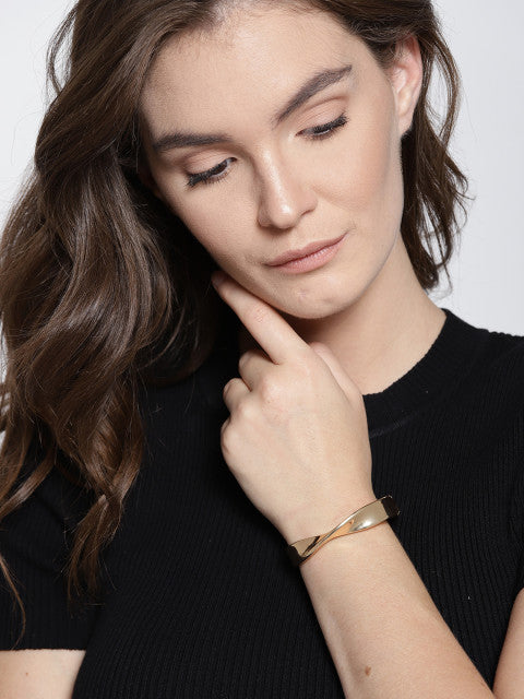 Gold Plated Wave Cuff - ChicMela
