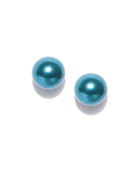 Detachable 2 in 1 Crystal & Pearl Stud-Emerald Green - ChicMela