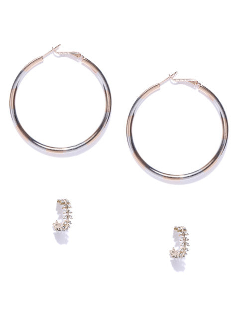 Gold and Silver Hoop Set - ChicMela