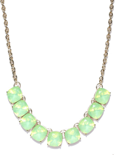 Semi-precious Luxe Opal Stone Necklace in Ocean Green
