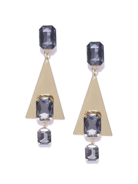 Luxe Crystal Triangle Drops - ChicMela