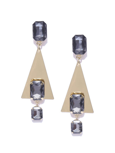 Luxe Crystal Triangle Drops