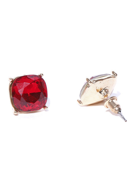 Workwear Studs-Ruby - ChicMela