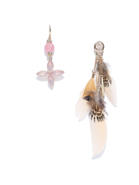 Mismatch Boho Chic Feather Earrings - ChicMela