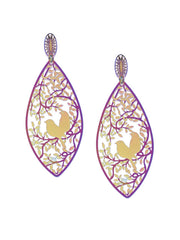 Love Birds in a Nest 3D Drop Earrings - ChicMela
