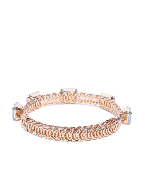 Luxe 18K Gold Plated Multi Stone Wrap Around Bracelet - ChicMela