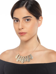 Gold Textured Necklace - ChicMela