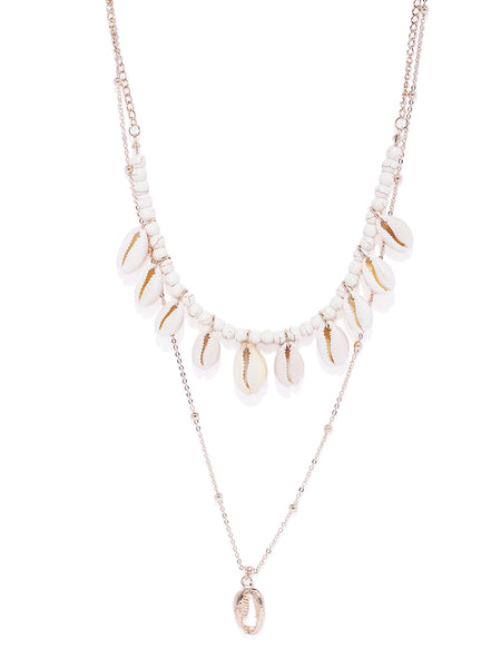 Natural Shell Layered Necklace - ChicMela