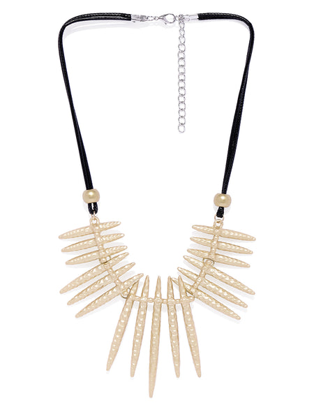 Tribal Gold Matte Necklace - ChicMela