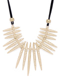 Gold statement tribal necklace - ChicMela