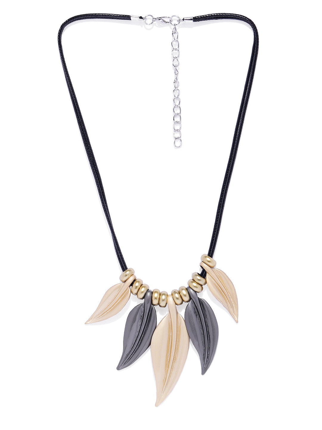 Matte Leaves Necklace - ChicMela