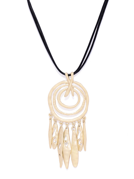 Dreamcatcher Matte Gold Necklace