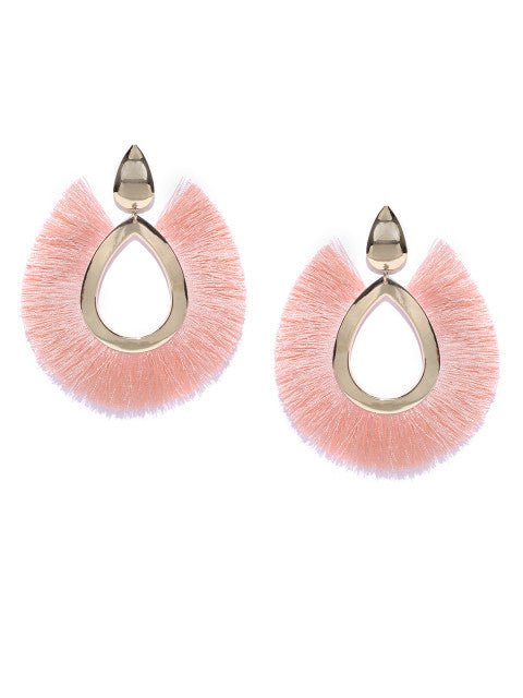 Tropical Statement Earrings-Pink - ChicMela
