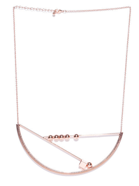 London- Geometric 18k Rose Gold Plated Necklace - ChicMela