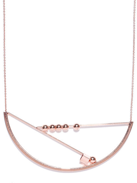 London- Geometric 18k Rose Gold Plated Necklace