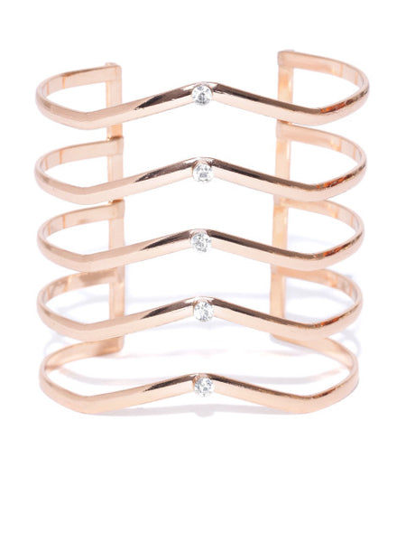 London-Warrior Princess 18k Rose Gold Plated Cuff