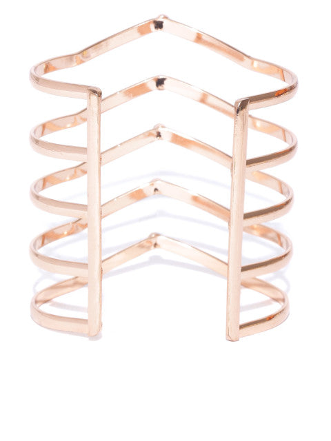 London-Warrior Princess 18k Rose Gold Plated Cuff - ChicMela