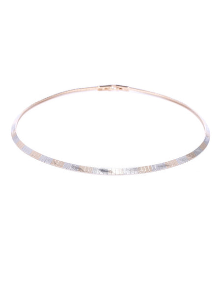Silver and Gold Plated Minimal Choker