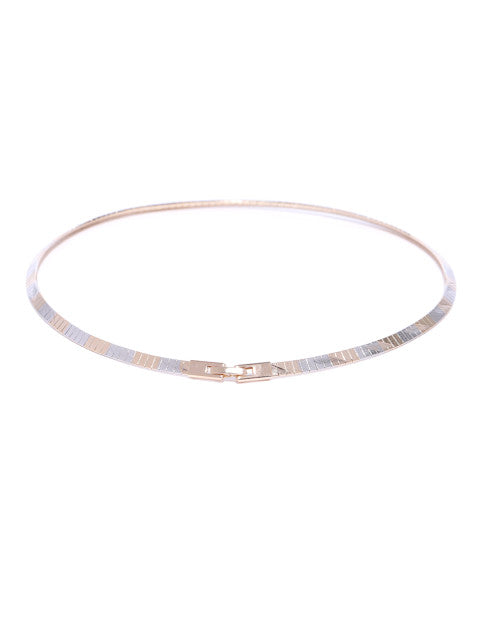 Silver and Gold Plated Minimal Choker - ChicMela