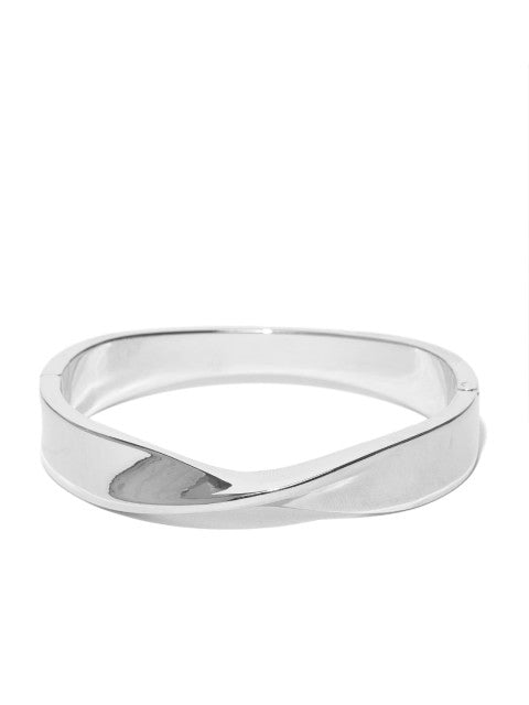 Silver Plated Wave Cuff - ChicMela
