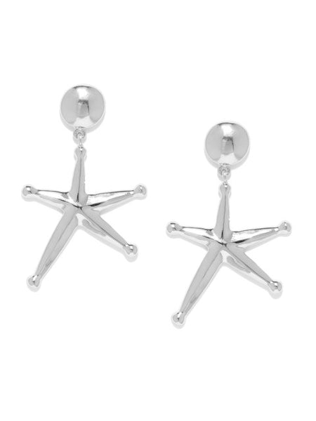 Celestial Silver Star Earrings