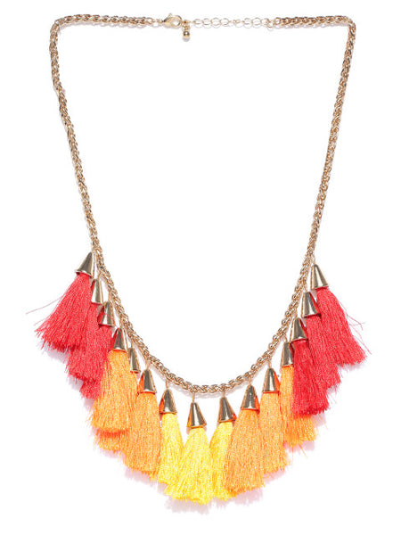 Sun-Kissed Tassel Necklace