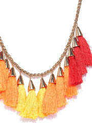 Sun-Kissed Tassel Necklace - ChicMela