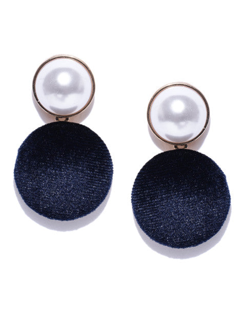 Velvet and Pearl Blue Drops - ChicMela
