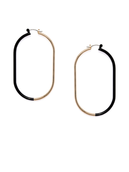 Black and Gold Hoops