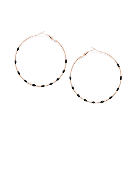 Black Dotted Circular Drops