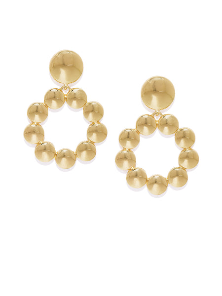 Gold Circular Earrings