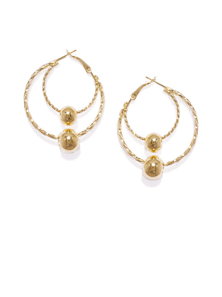 Luna Golden Circular Hoops