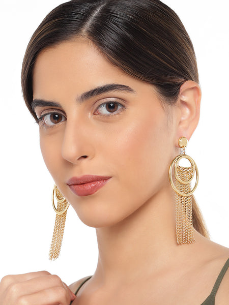 Circular Tassel Earrings - ChicMela