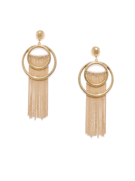 Circular Tassel Earrings