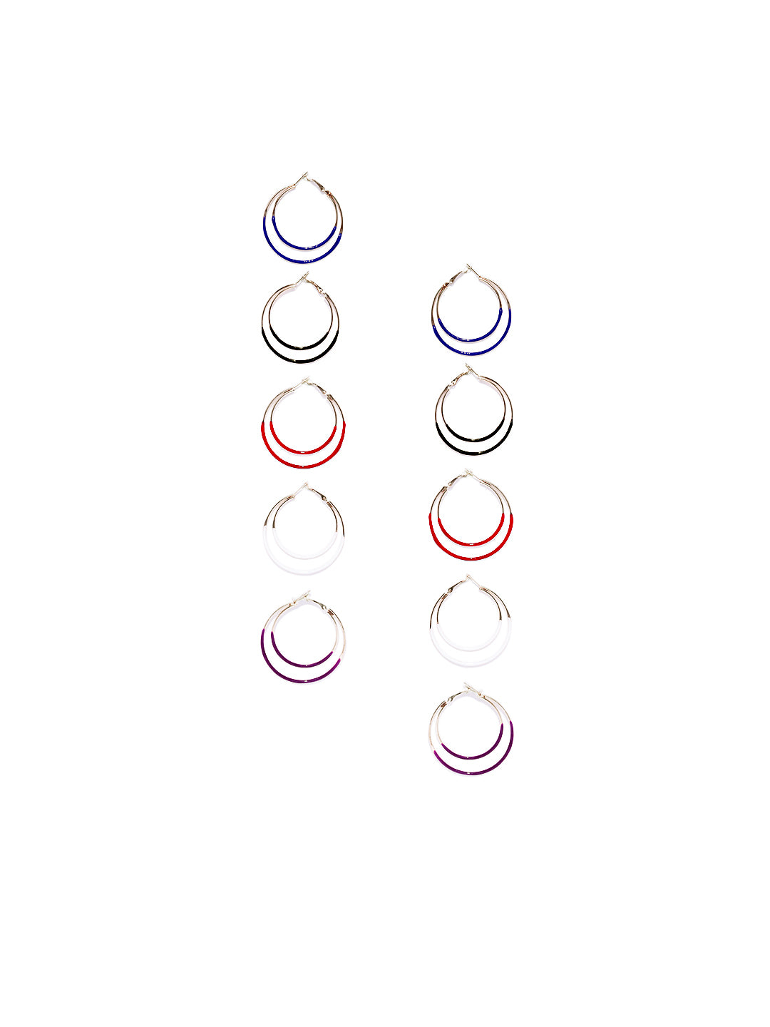 Multi-coloured Hoop Set - ChicMela