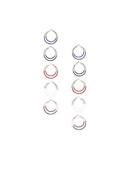 Multi-coloured Hoop Set