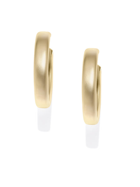 Matte Gold Hoops - ChicMela