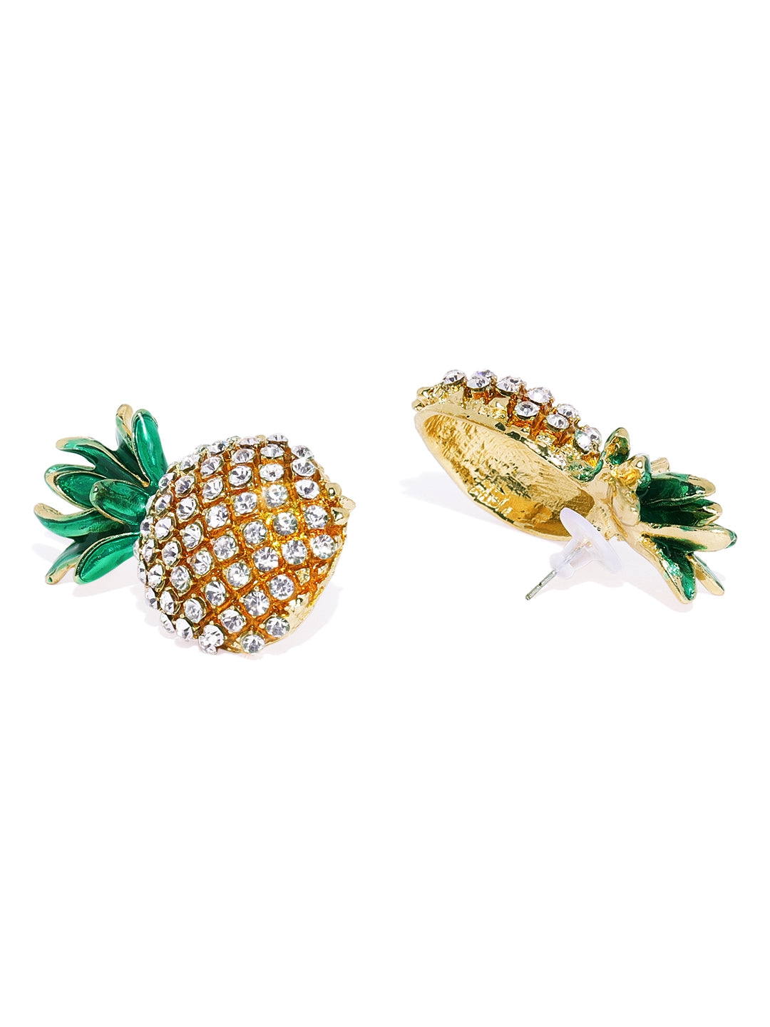 Pineapple Oversized Studs - ChicMela
