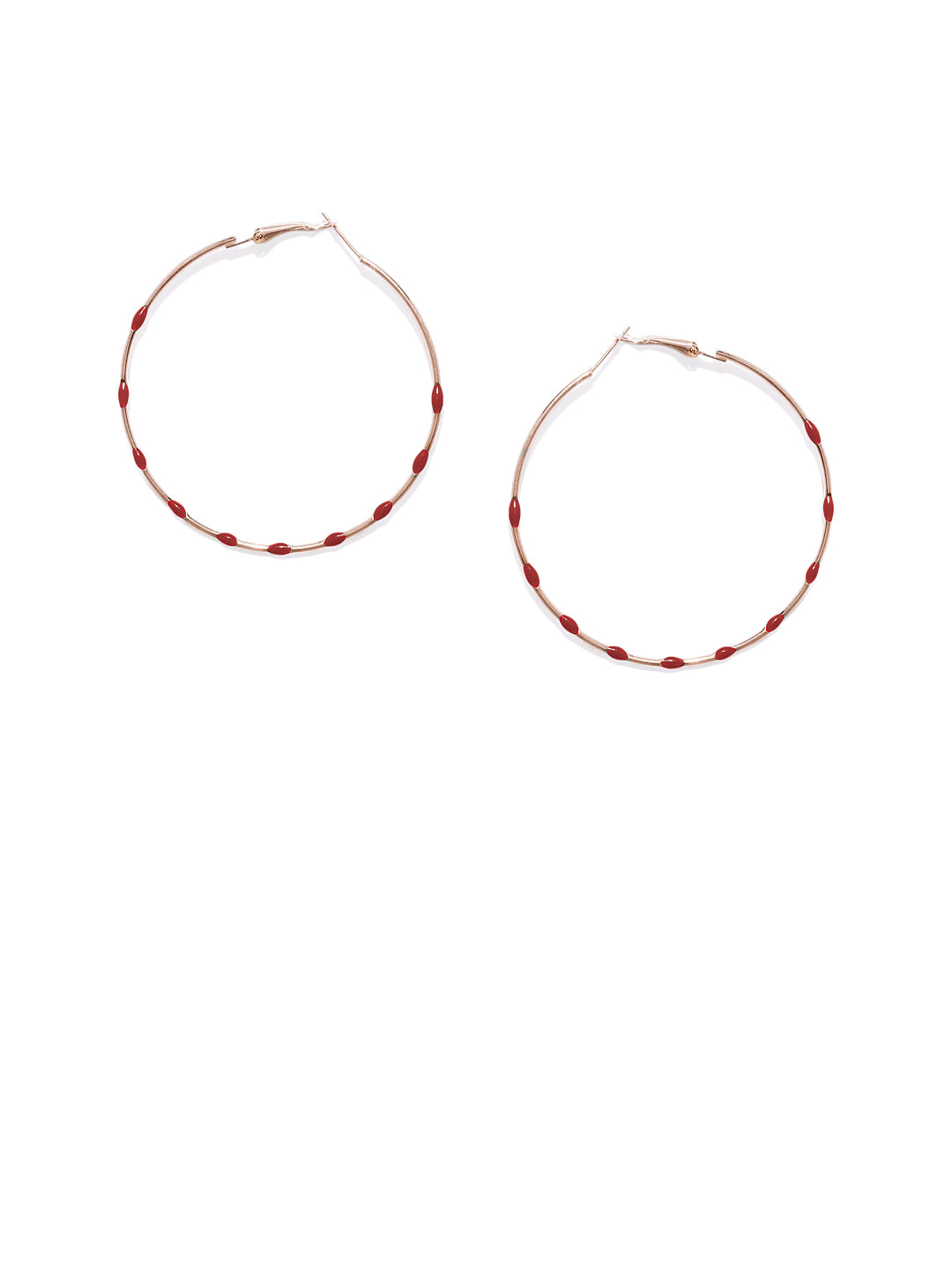Red Dotted Circular Drops - ChicMela