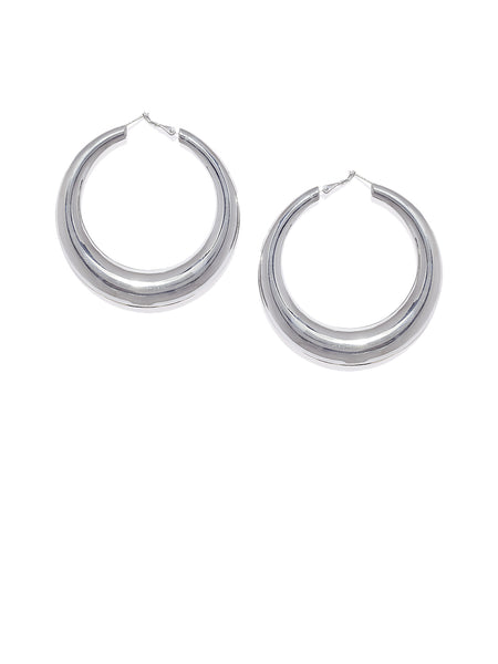 Silver Big Hoops - ChicMela