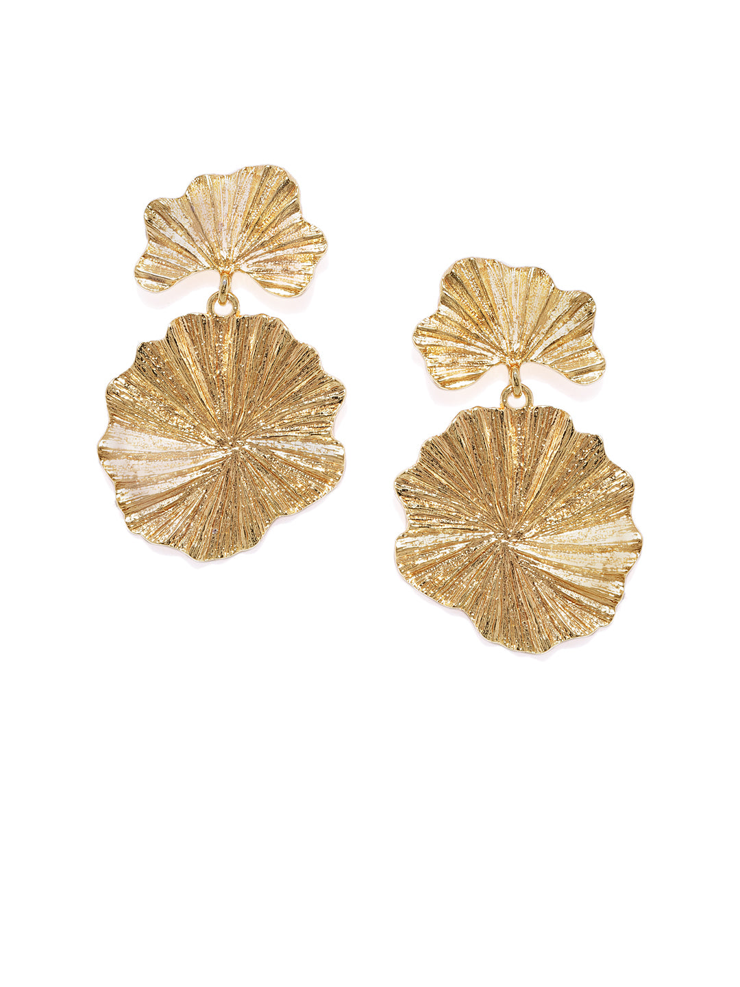 Textured Floral Earrings - ChicMela