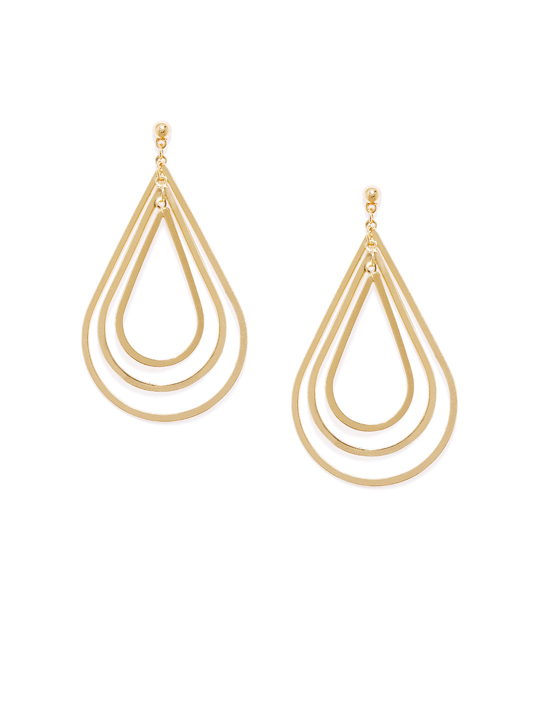 Peardrop Gold Earrings - ChicMela