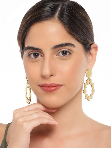 Gold Circular Earrings - ChicMela