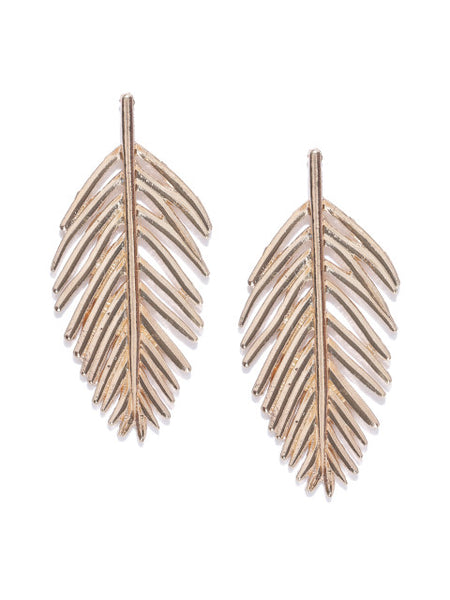 Tropical Gold Plated Leaf Earrings