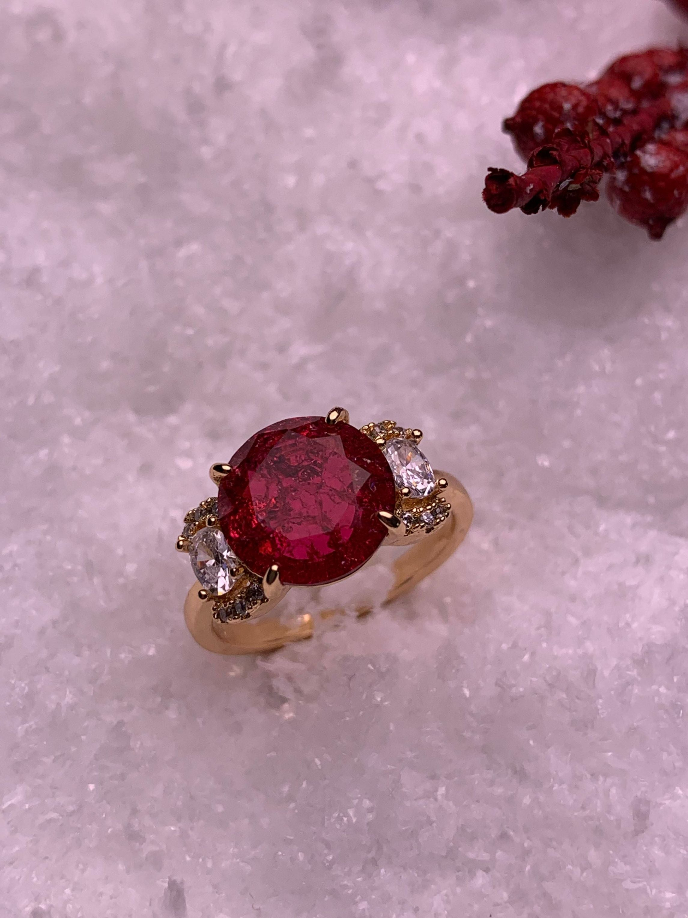 Classic Ruby Ring - ChicMela