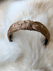 Knotted Vegan Handmade Hairband- Nude - ChicMela